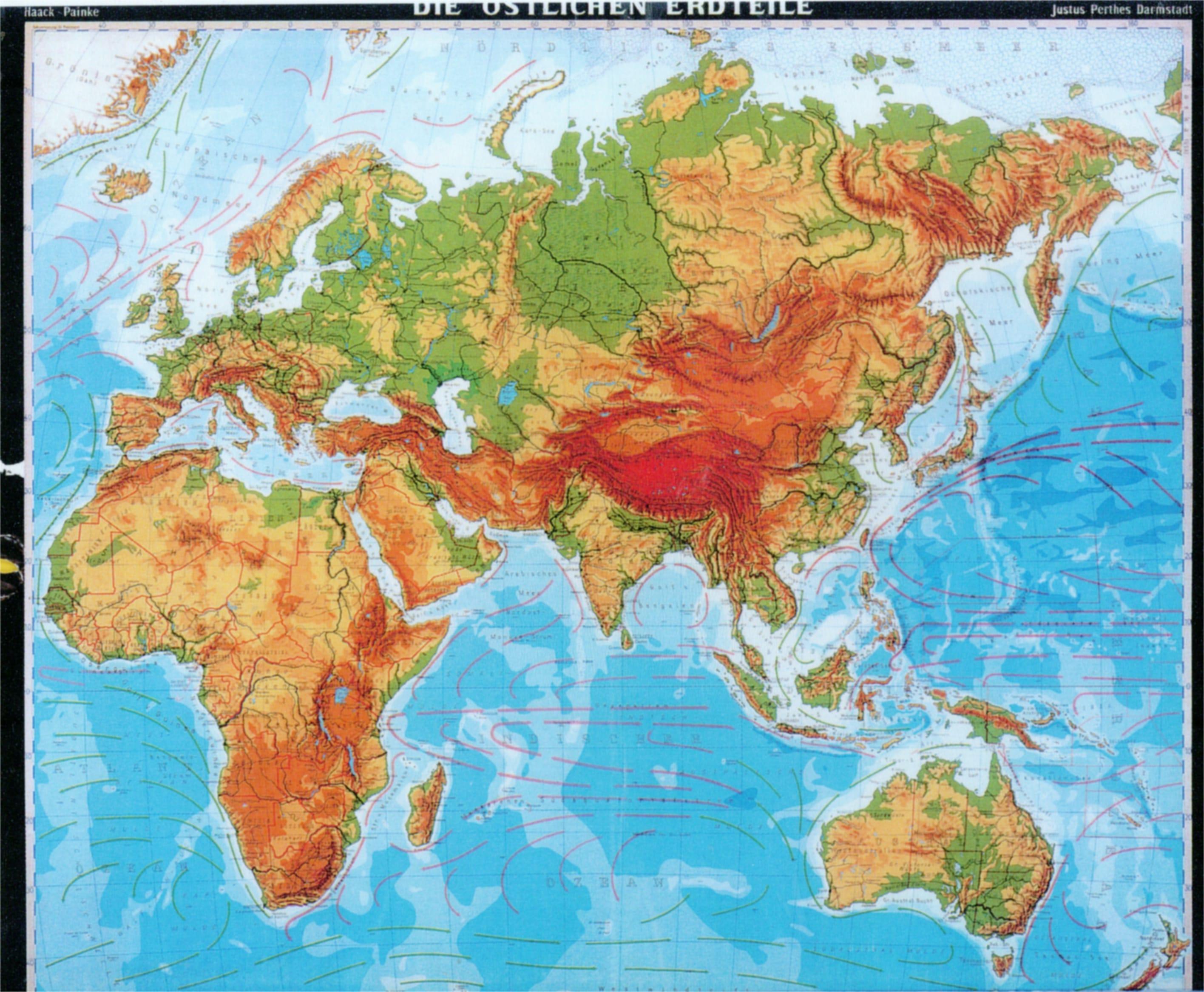 Eurasien geografische Karte