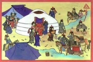 Miniatur, Leben in der Mongolei