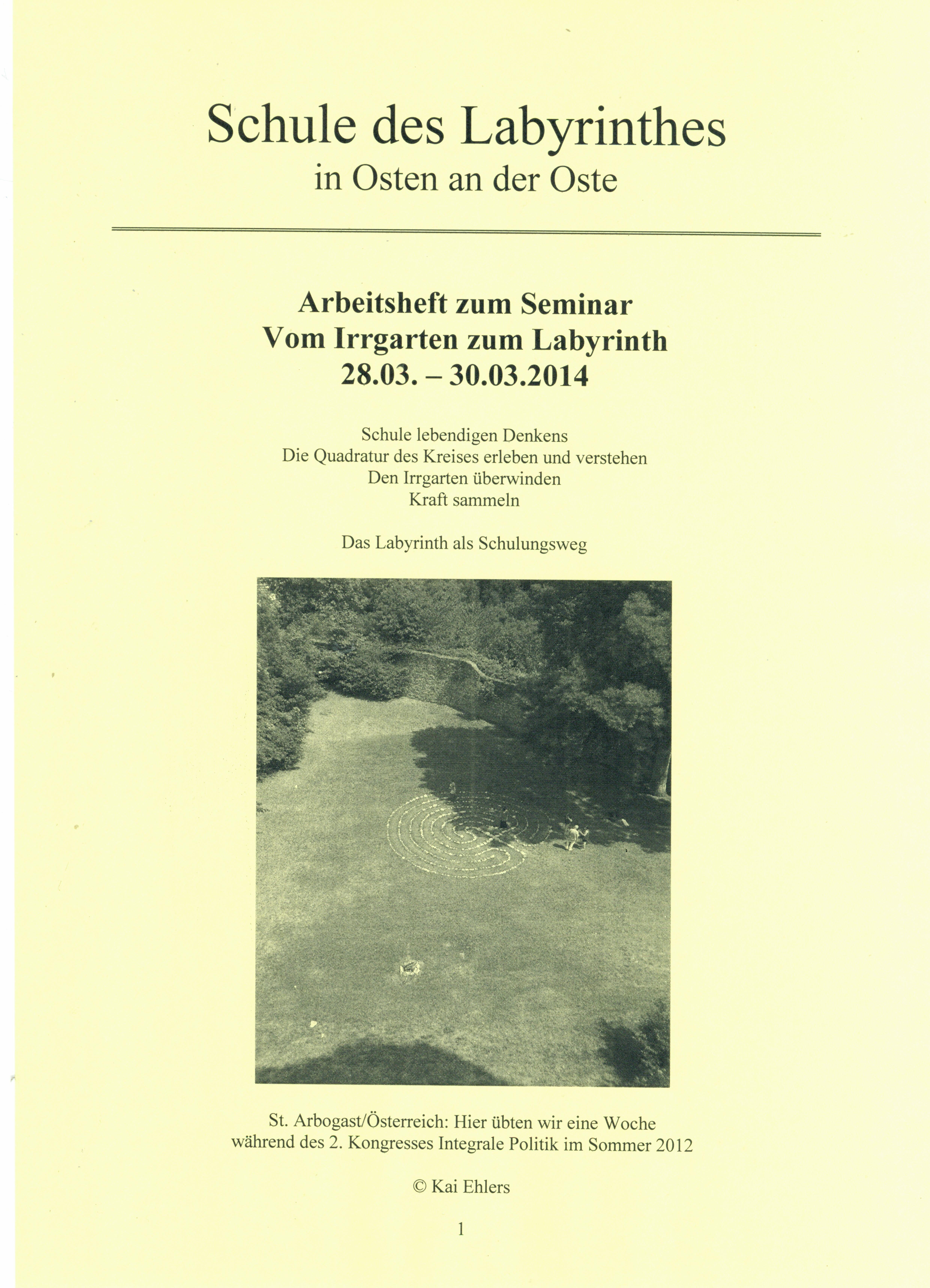 Schule – Vom Irrgarten zum Labyrinth